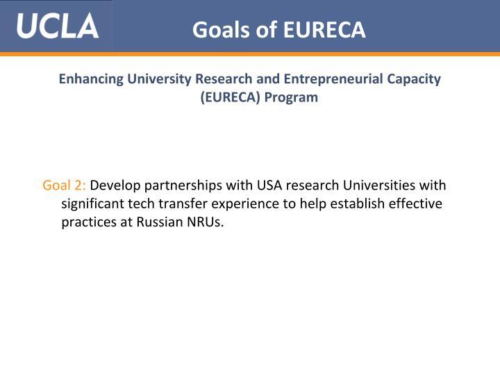 Goals of EURECA