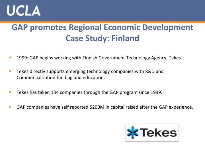 GAP promotes Regional Economic Development