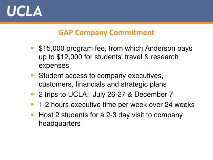 GAP Company Commitment