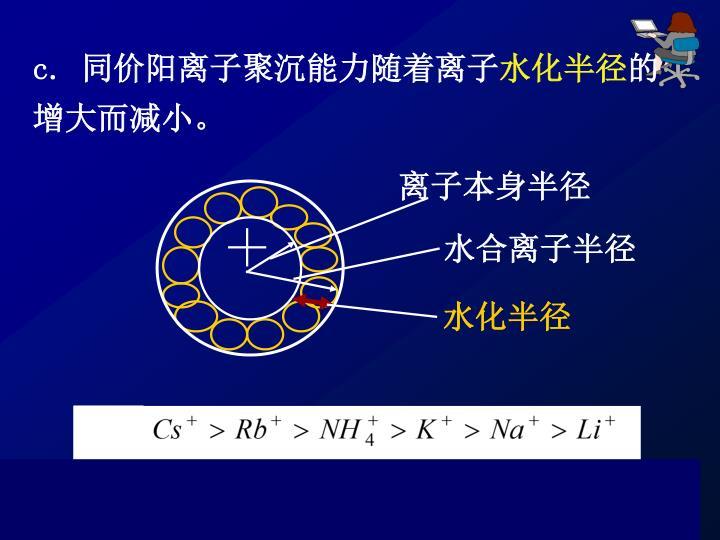 离子本身半径