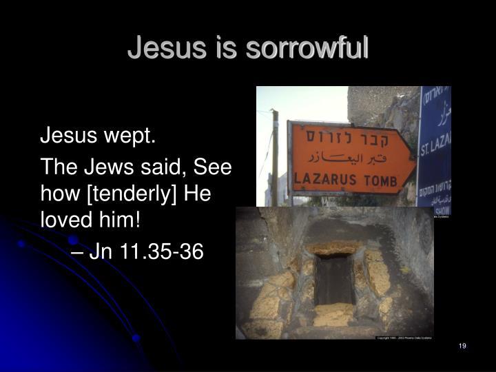 Jesus is sorrowful