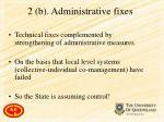 2 b administrative fixes