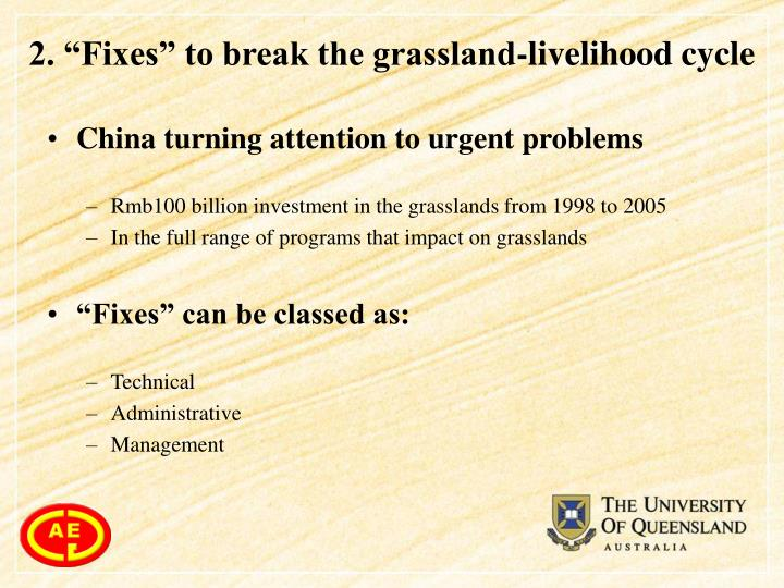"2. ""Fixes"" to break the grassland-livelihood cycle"