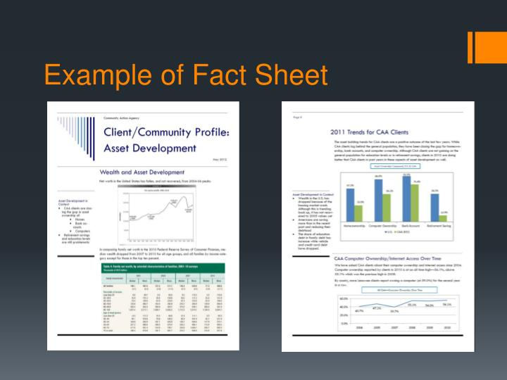 Example of Fact Sheet