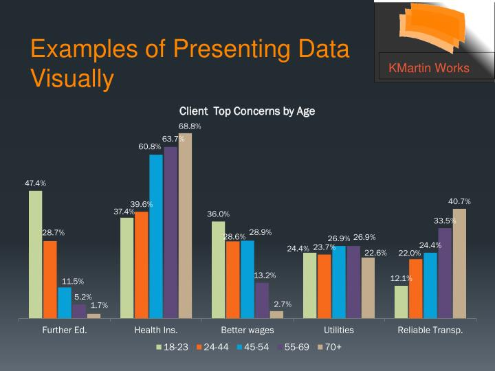 Examples of Presenting Data Visually