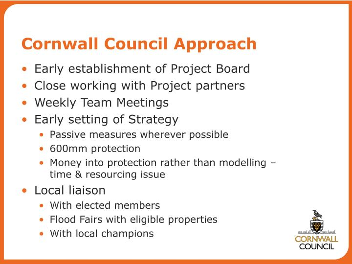 Cornwall Council Approach