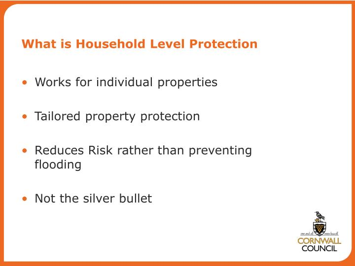 What is Household Level Protection