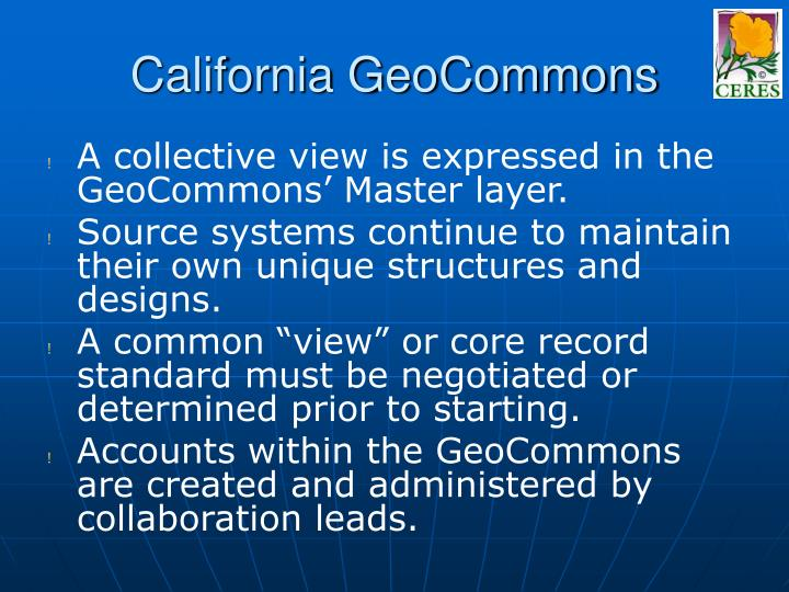 California GeoCommons