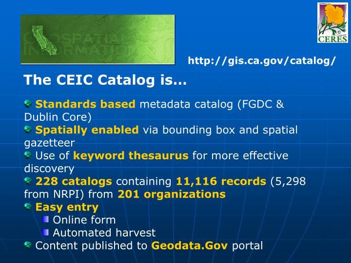 http://gis.ca.gov/catalog/