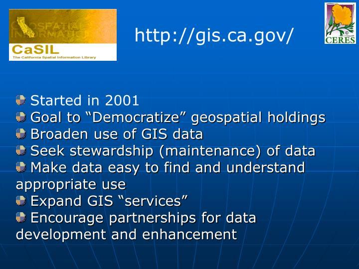 http://gis.ca.gov/