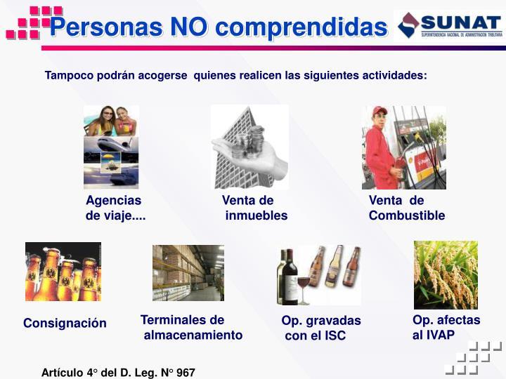 Personas NO