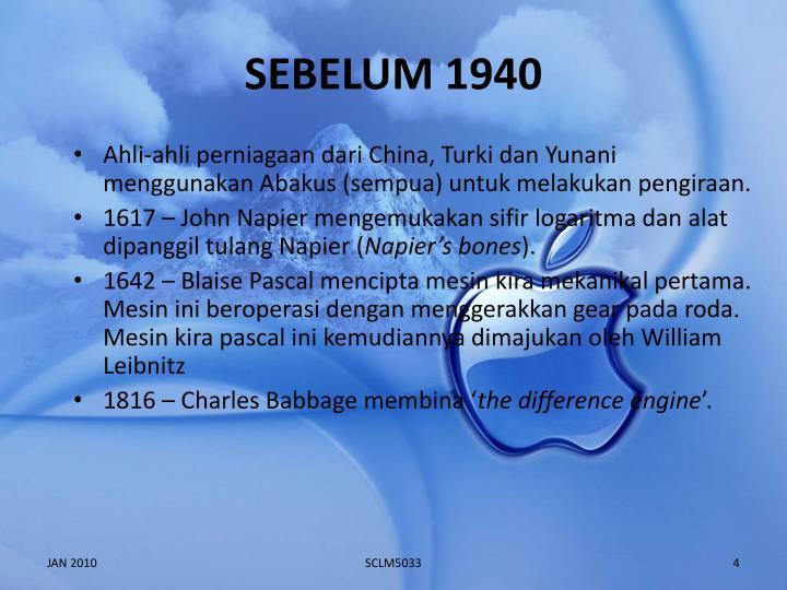 SEBELUM 1940