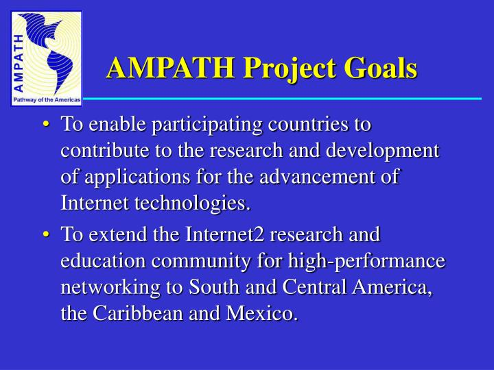 AMPATH Project Goals