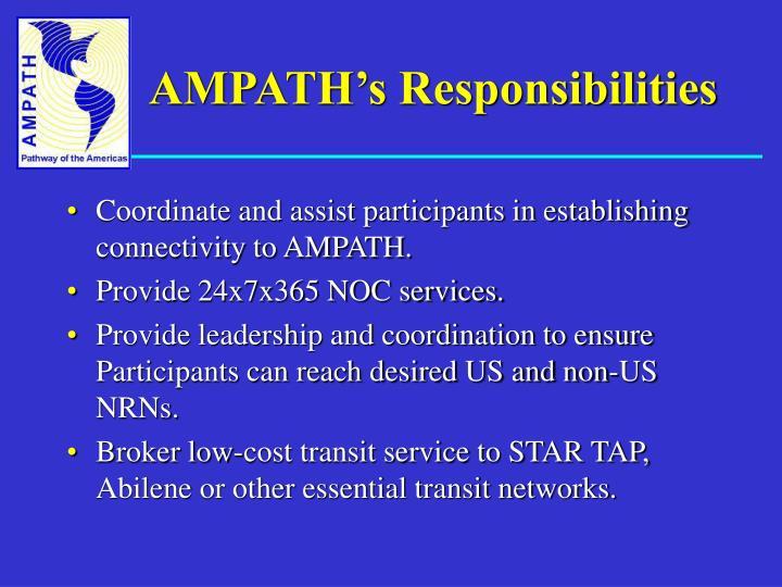 AMPATH's Responsibilities