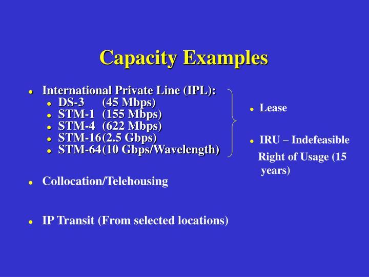 Capacity Examples
