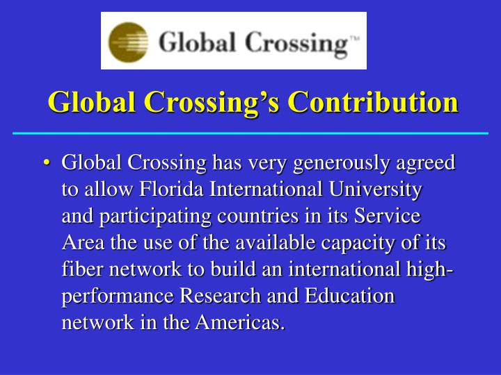 Global Crossing's Contribution