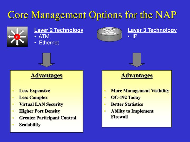 Core Management Options for the NAP