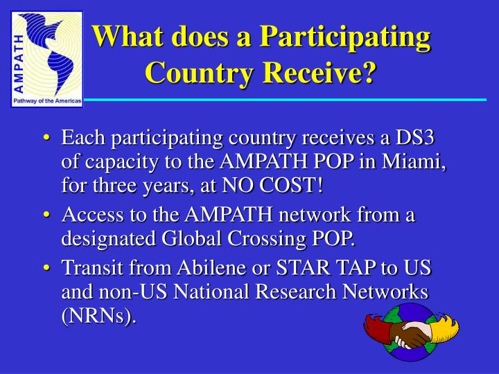 What does a Participating Country Receive?