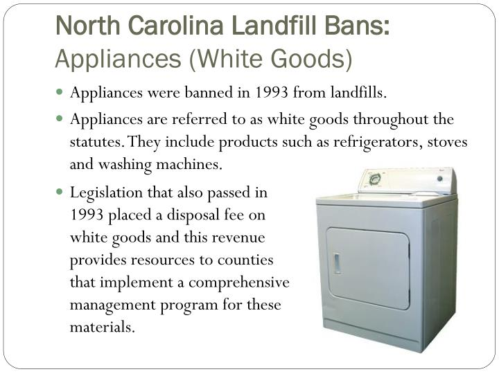 North Carolina Landfill Bans: