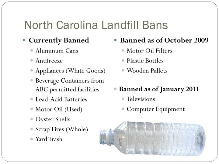 North Carolina Landfill Bans