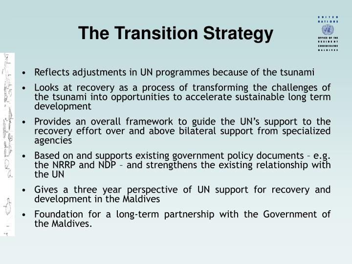 The Transition Strategy