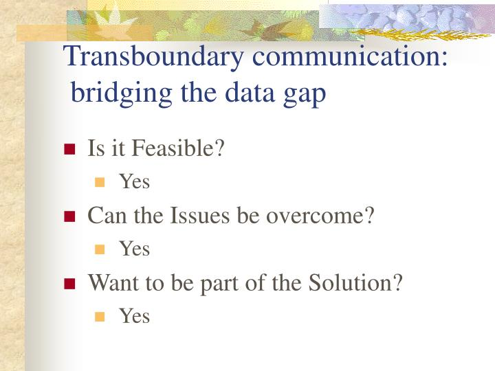 Transboundary communication: