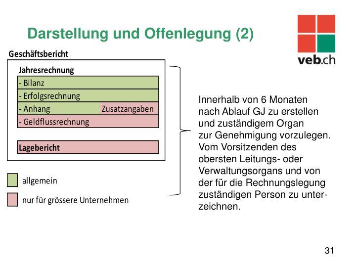 Darstellung und Offenlegung (2)