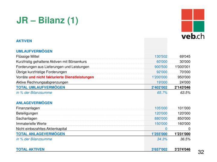 JR – Bilanz (1)