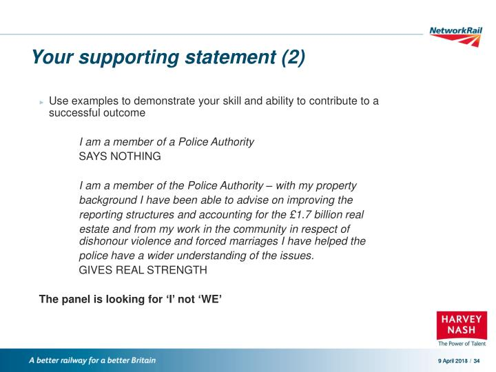 Your supporting statement (2)