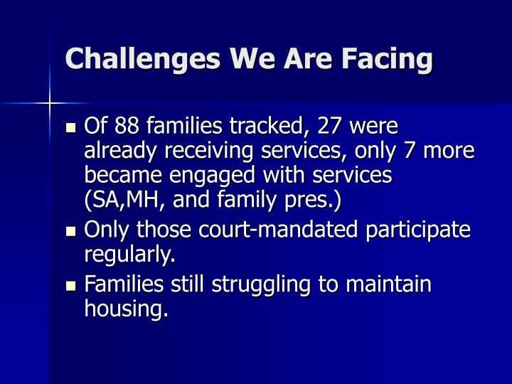 Challenges We Are Facing