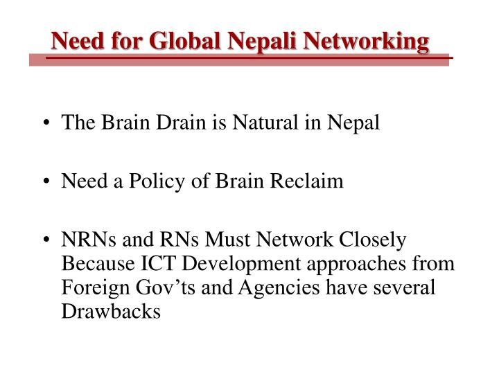 Need for Global Nepali Networking