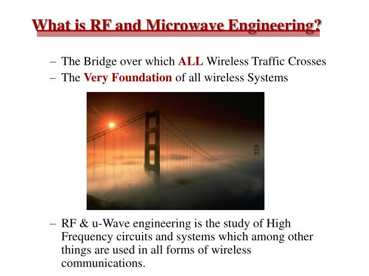 What is RF and Microwave Engineering?
