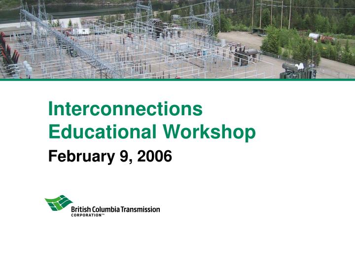interconnections educational workshop