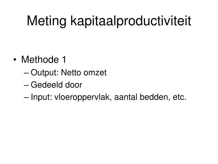 Meting kapitaalproductiviteit