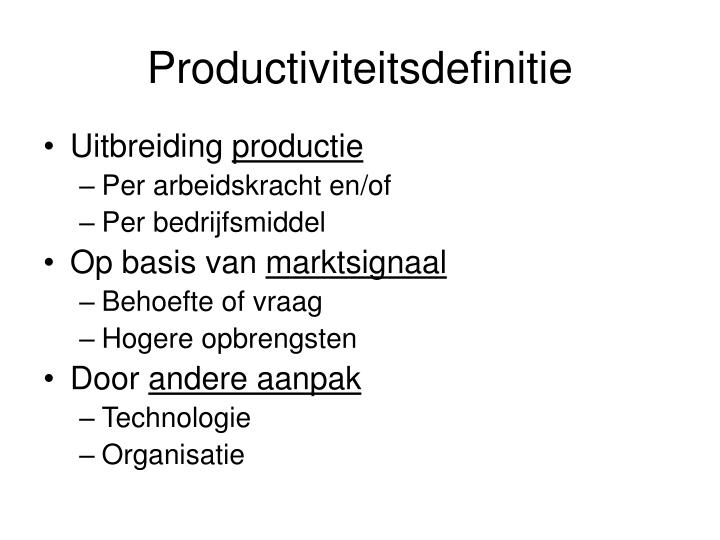 Productiviteitsdefinitie