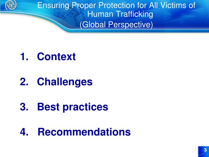 Ensuring Proper Protection for All Victims of Human Trafficking