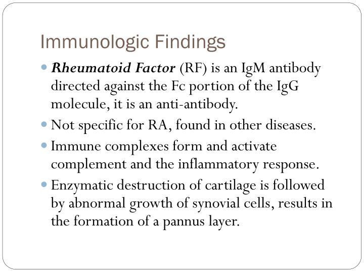 Immunologic Findings
