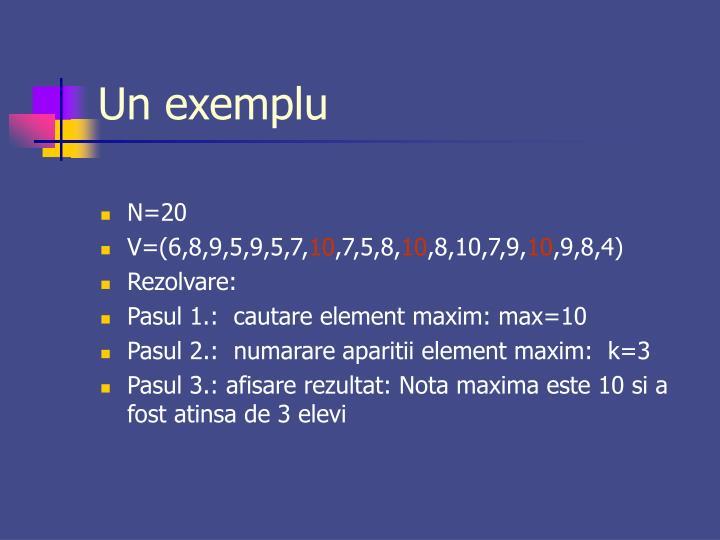 Un exemplu