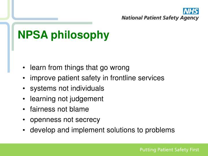 NPSA philosophy