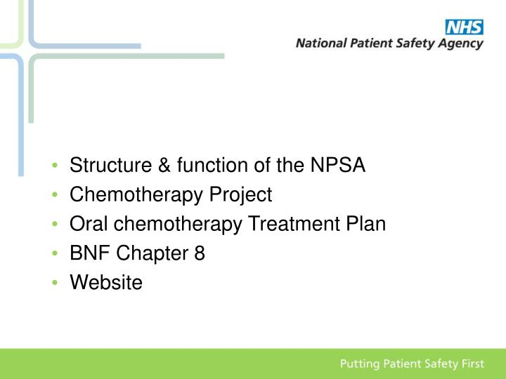 Structure & function of the NPSA