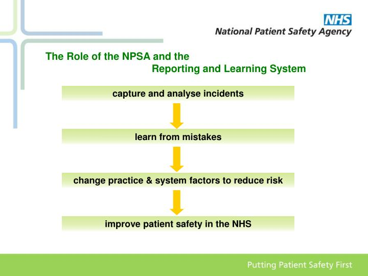 The Role of the NPSA and the