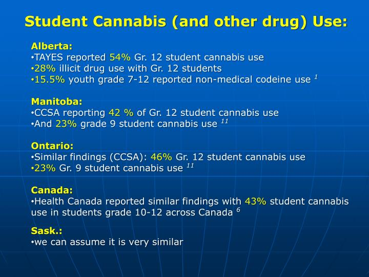 Student Cannabis (and other drug) Use: