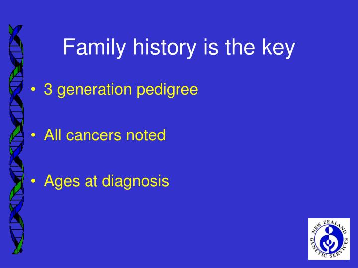 Family history is the key