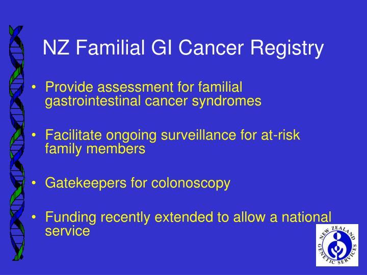 NZ Familial GI Cancer Registry