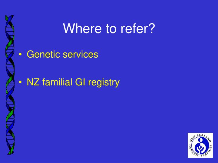 Where to refer?