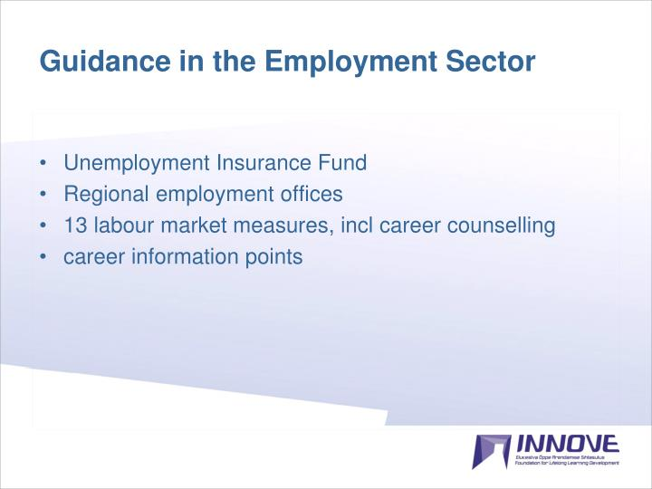 Guidance in the Employment Sector