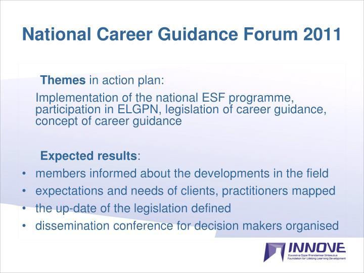 National Career Guidance Forum