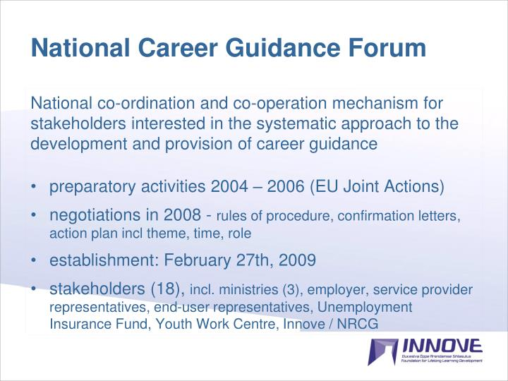 National Career Guidance Forum