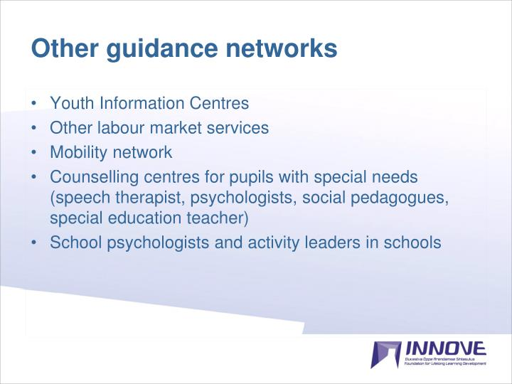 Other guidance networks