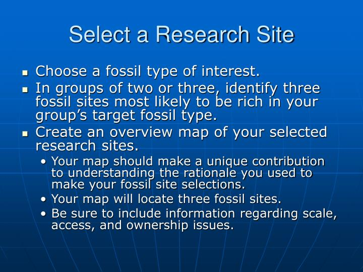 Select a Research Site